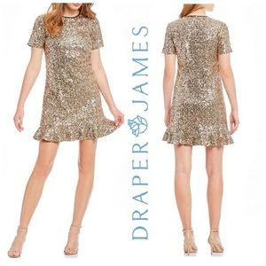 NWT Draper James Full Sequin Peplum Dress Size 6